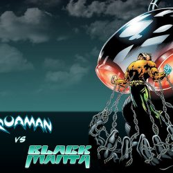 Aquaman vs black manta background