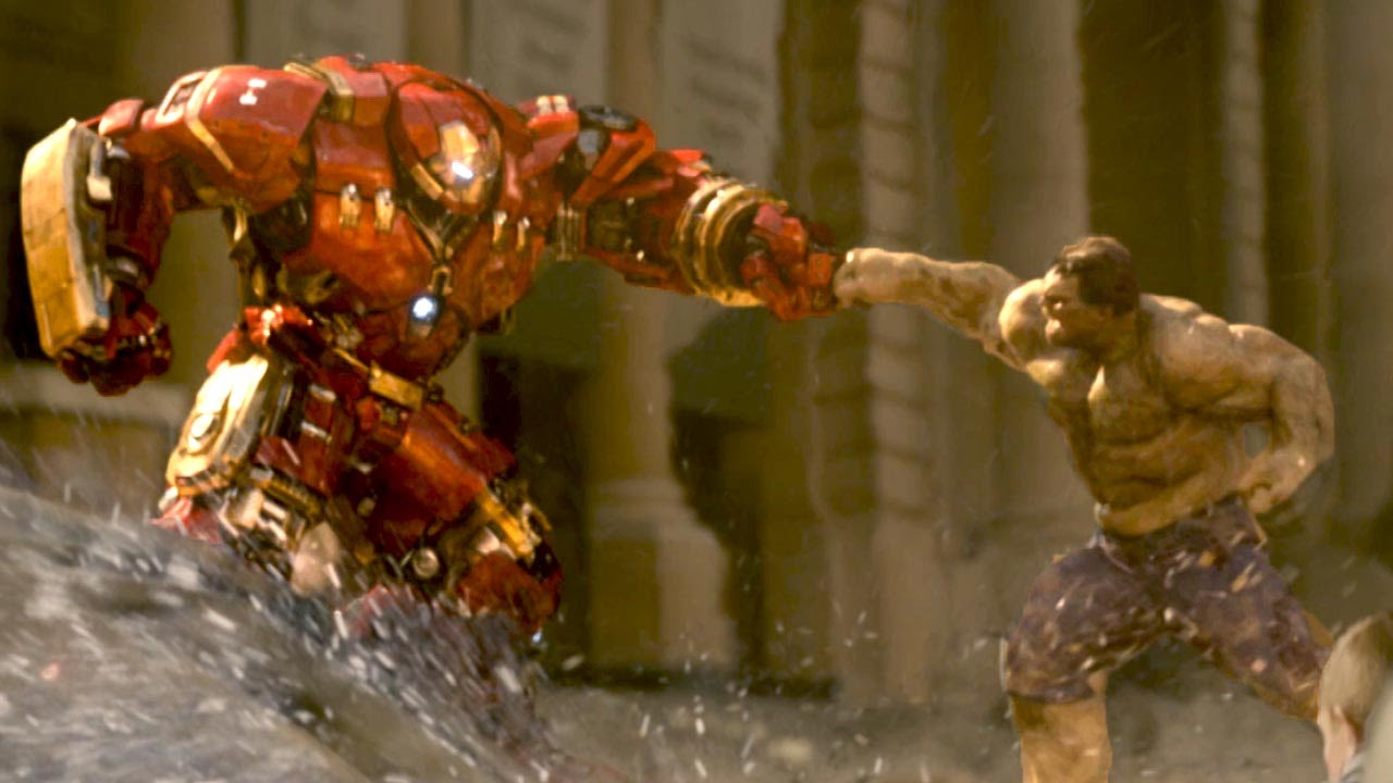 Hulk Vs Ironman Suit Android Red
