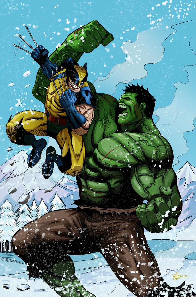 Hulk Vs Wolverine Fun Battle