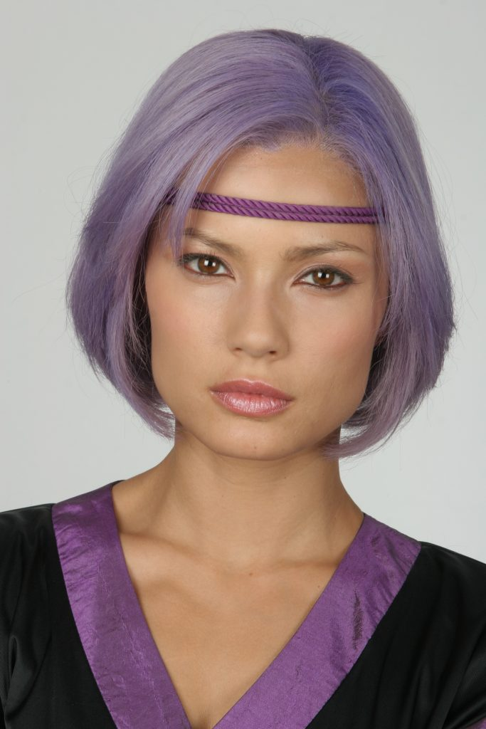 Natassia Malthe Purple Hair Android Red