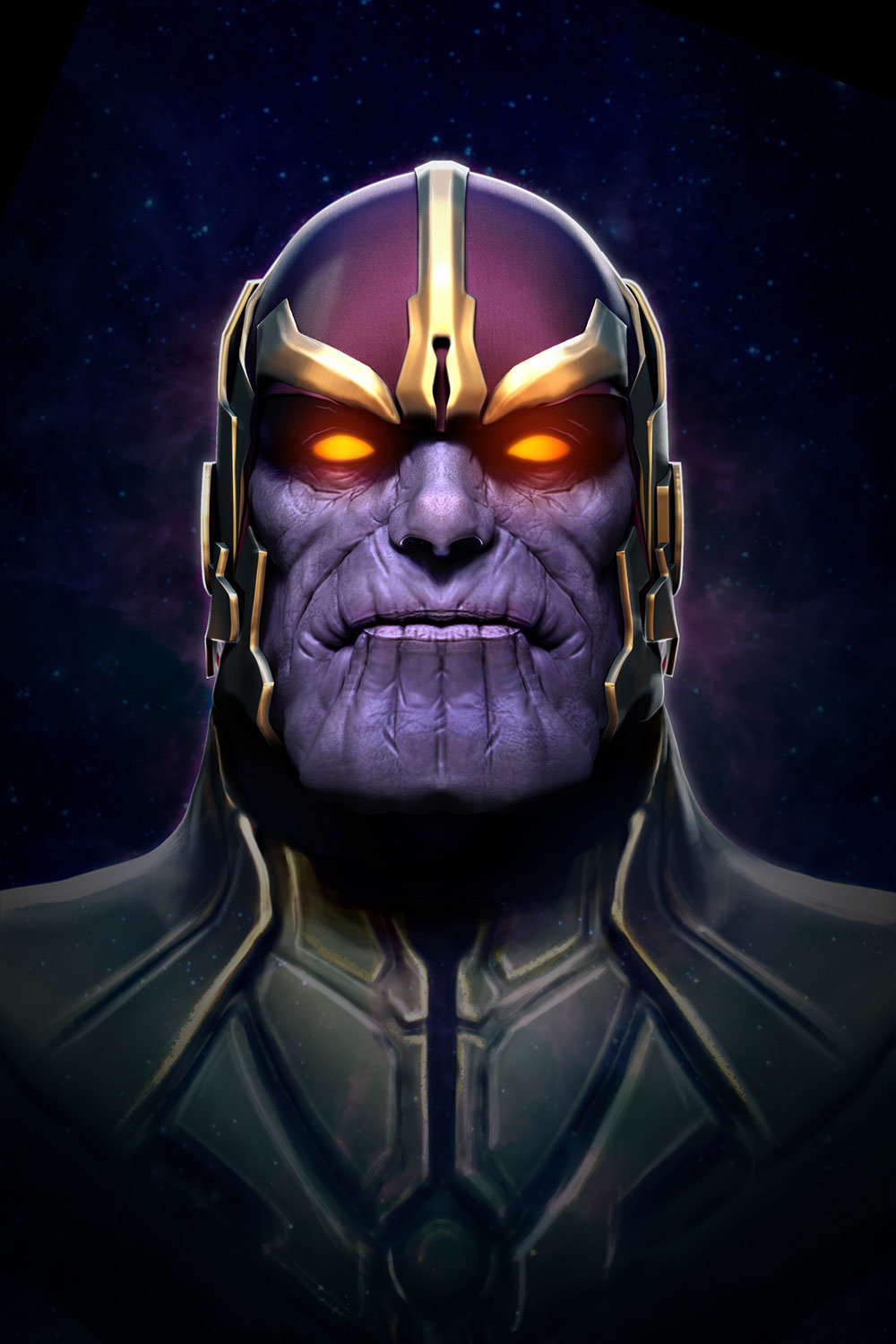 Thanos Phone Wallpaper Android Red