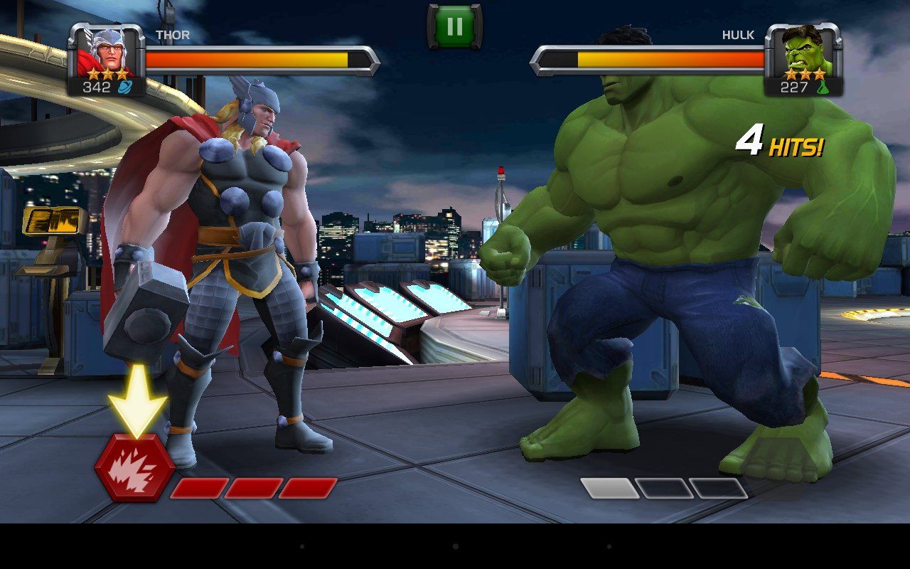 Thor Vs Hulk Game Contest Of Champions Android Red