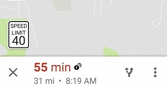 Google maps now shows speed limits during navigation