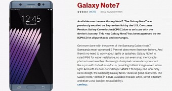 """""""Safe"""" Samsung Galaxy Note 7 Goes on Sale in the US"""