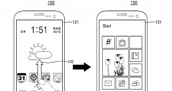 Samsung patent shows galaxy phone running windows and android