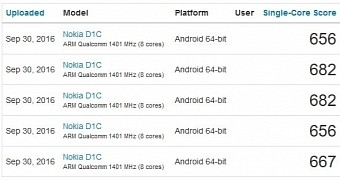 Nokia D1C Smartphone Running Android 7.0 Shows Up On Geekbench