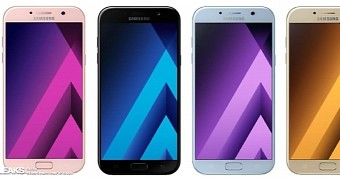 Samsung galaxy a5 2017 leaked press render show four different color versions