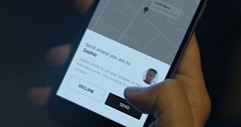 Uber app update adds snapchat integration ability to use people as destinations