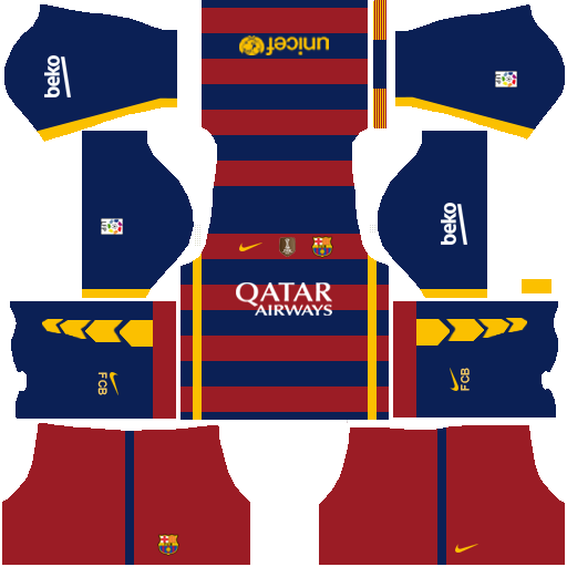 Dream-League-Soccer-2017-Barcelona-Kits - Android Red