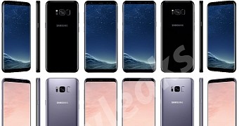 Samsung galaxy s8 and s8 plus colors shown in new renders from all angles