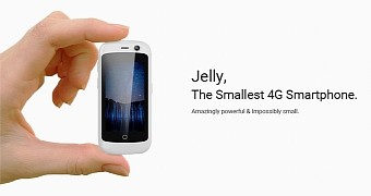 Jelly the world s smallest 4g smartphone runs android 7 0 nougat