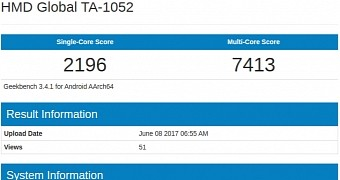 Nokia 9 with 4gb of ram and snapdragon 835 shows up in benchmark