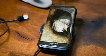 Samsung galaxy s7 edge explodes company pays to repair owner s nightstand
