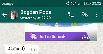 A single message can crash whatsapp on android and even freeze the device