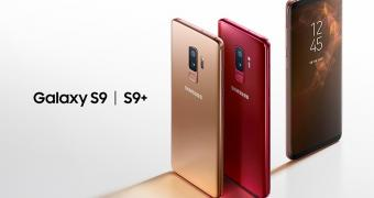 Samsung galaxy s9 and s9 plus now available in sunrise gold burgundy red editions 521152