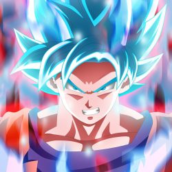 Goku super saiyan blue hair