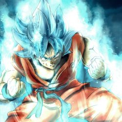Goku super saiyan blue power