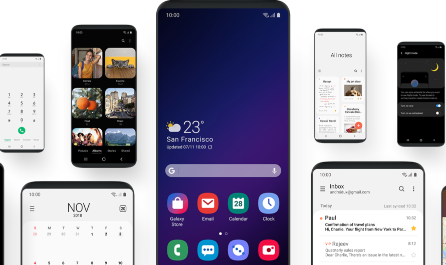 Samsung Releases the One UI New Interface Design