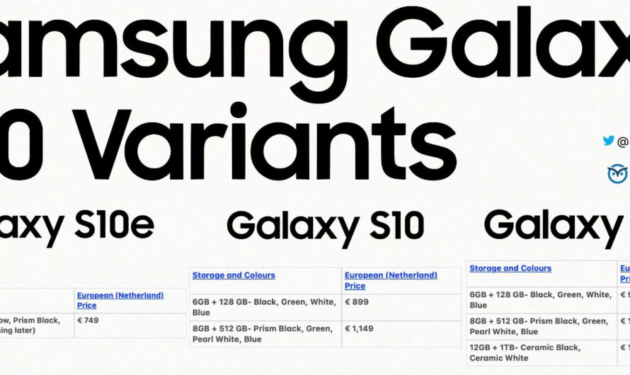 Leaked Prices Show Samsung Galaxy S10+ Will Cost More than iPhone XS Max