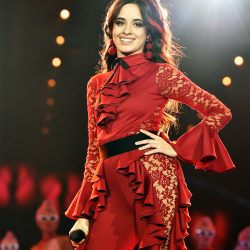 Camila cabello wearing red dress