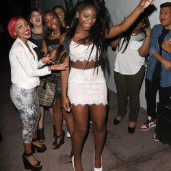 Normani with fans