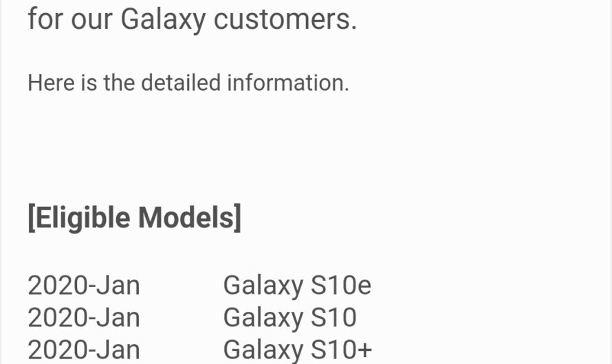 Samsung Galaxy S8 Not Getting Android 10 Update