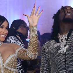 Cardi b happy with offset