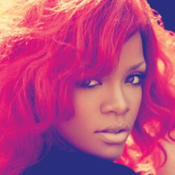 Rihanna red hairstyle