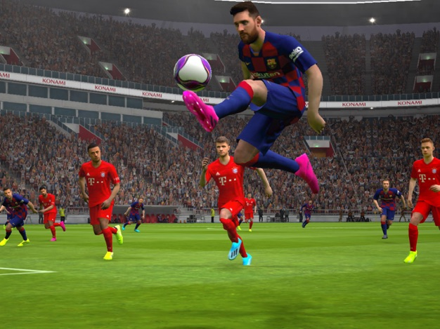 Messi gameplay graphics in PES 2020