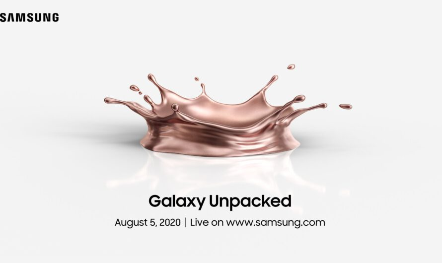 Confirmed: Samsung Galaxy Note20 to Launch on August 5