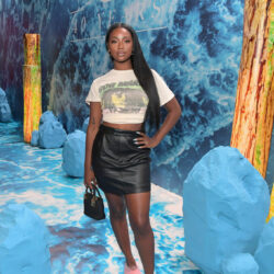Bob marley t shirt with leather skirt