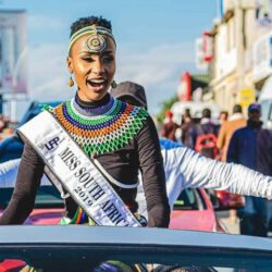 Miss south africa in streets