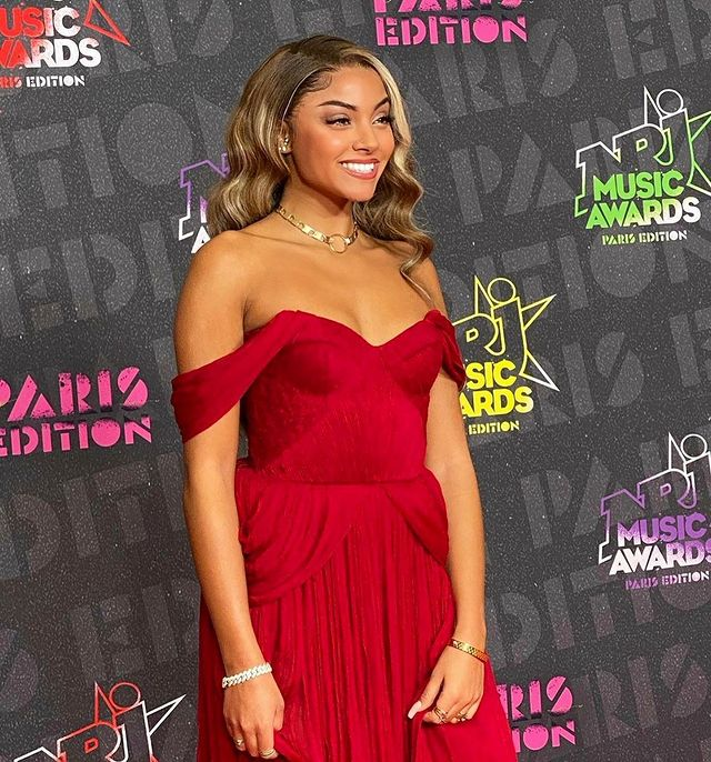 At award show red dress