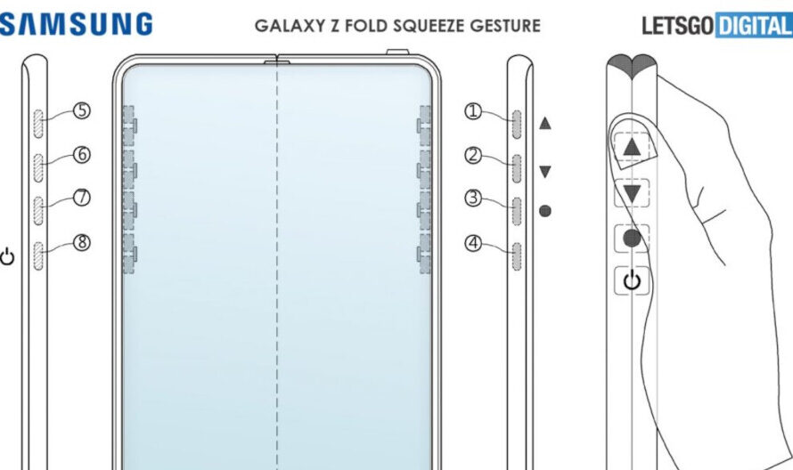 Patent suggests no physical buttons for the Samsung Galaxy Z Fold 3