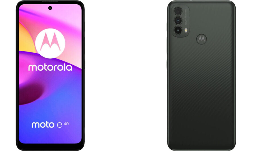 These are the full specs and European price of the unannounced Moto E40